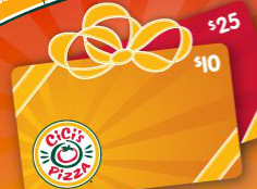 Cicis pizza gift card