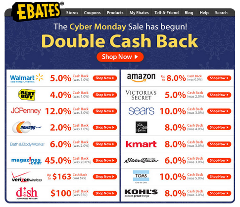 coupons extra cash for shopping Earn up to 30% cash back on every purchase at more than 2,500 stores, find money-saving coupons, and get the best price on any product free to join.