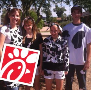 Chick-fil-A Cow Appreciation Day Tuesday, 7/9 ~ Dress Like a