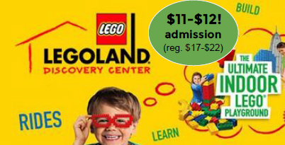 legoland discovery center tempe arizona has two super discount offers right now keep in mind tickets are normally 22 at the door 17 online