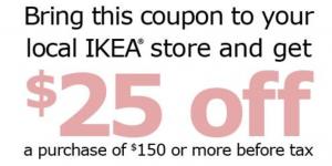 Ikea coupon 25 off 150