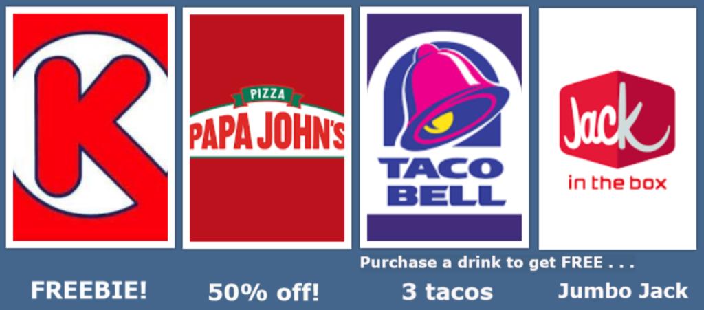 Dbacks Win! Deals at Taco Bell, Papa John's, Jack in the Box