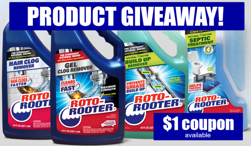 rotorooter com sweepstakes roto rooter product giveaway try it for plumbing needs 630