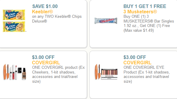 photograph about Covergirl Printable Coupons identify Plenty of Fresh new Printable Discount codes (Address Woman, 3 Musketeers