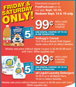 image regarding Frys Printable Coupons named Frys Grocery Discounts Coupon Activity Ups ~ 9/12/18 - 9/18/18