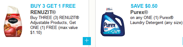 photograph about Purex Printable Coupons known as Contemporary Printable Discount coupons ~ Renuzit, Purex, Protect Woman, Purina