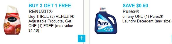 graphic regarding Barilla Printable Coupons named Fresh new Printable Discount codes ~ Renuzit, Purex, Address Woman, Purina