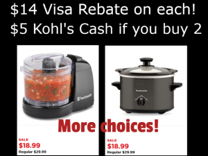 Kohl's Kitchen Appliances $18 99 - $14 rebate + Kohl's Cash! = CHEAP