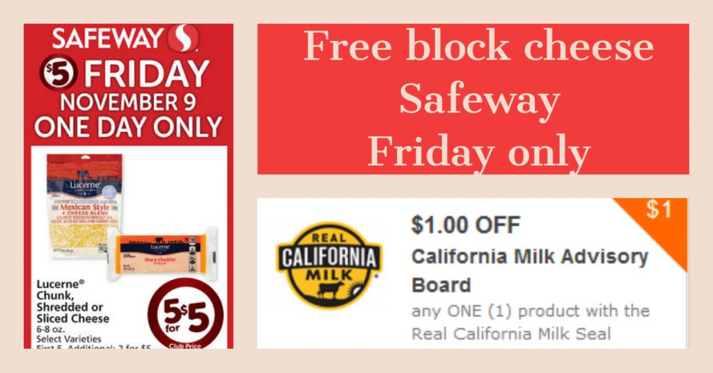 photo regarding Safeway Printable Coupons referred to as No cost Block Cheese at Safeway upon Friday with Printable Coupon