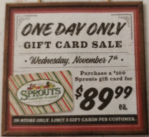 Sprouts ~ $100 Gift Card for $89 99 Wed  ONLY | Bargain Believer