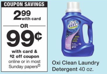 Oxi Clean Detergent Only 99¢ at Walgreens (insert, printable and